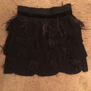 New w/tags black feather skirt Arden B